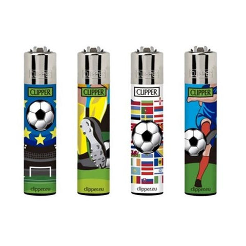 40 Clipper Refillable Printed Design Classic Lighters - vapingos