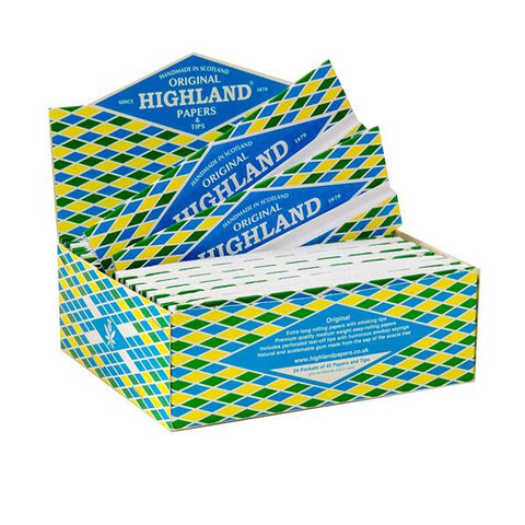 24 Highland Double Decadence King Size Rolling Papers & Tips - vapingos