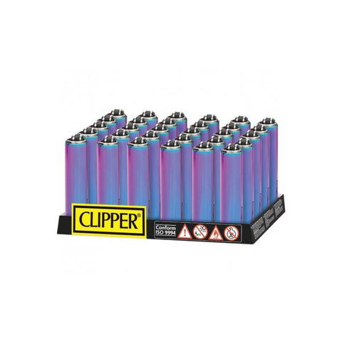 40 Clipper Micro Metal Metallic Mixed Icy Lighters - vapingos