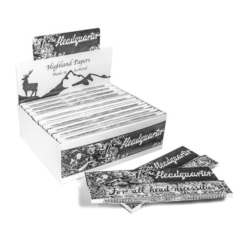 24 Highland Headquarters King Size Rolling Paper & Tips - vapingos