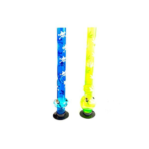 "6 x 24"" Mixed Designs Acrylic Long Bong - FA-B(8239SY)"
