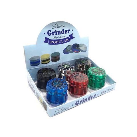 4 Parts Metallic Coloured Amsterdam 50mm Grinder - SMK105DY - vapingos