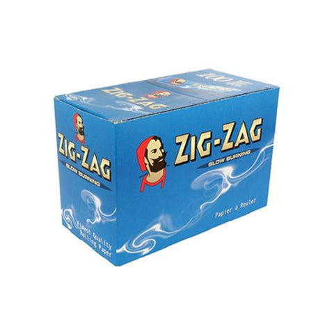 100 Zig-Zag Blue Regular Size Rolling Papers - vapingos