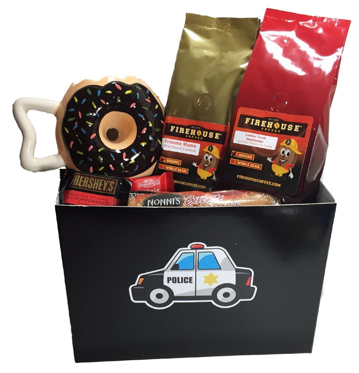 Police Car - Gift Basket for a Police Officer