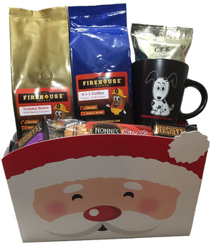 Firehouse Coffee Santa Christmas Gift Basket
