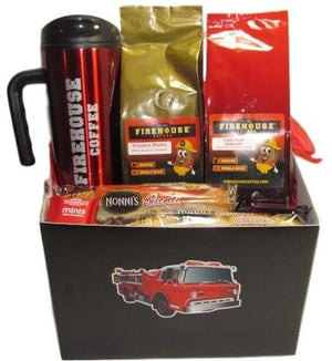 Fire Truck Coffee Gift Basket