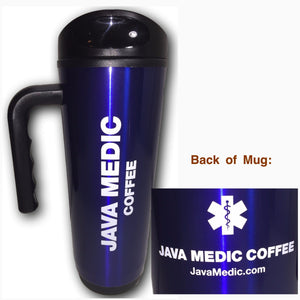 Java Medic Coffee 18oz Travel Mug
