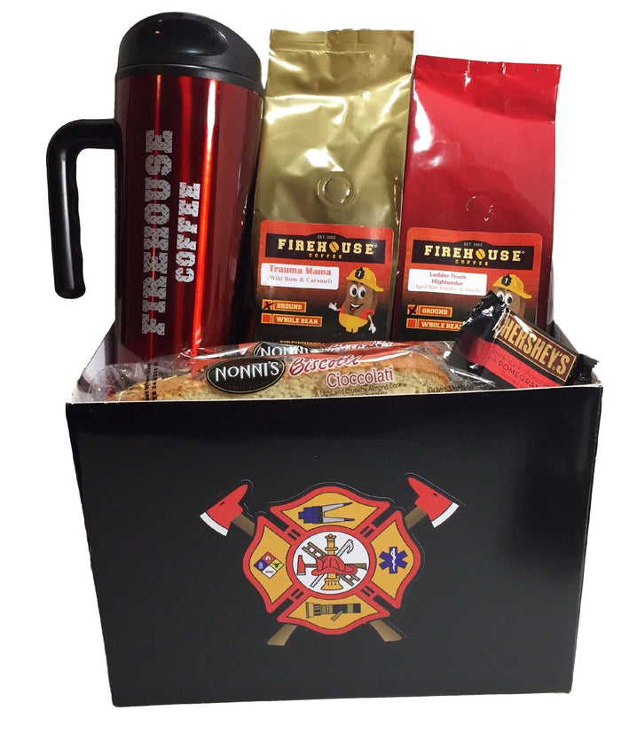Firefighter Maltese Cross Gift Basket