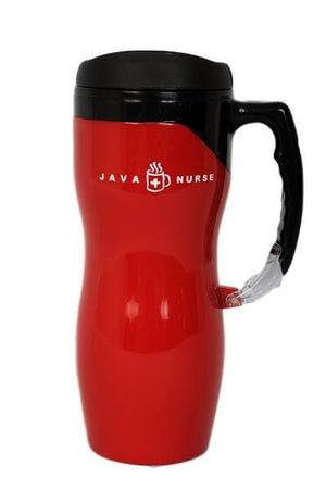 Java Nurse Carabiner Travel Mug (Clip on handle)