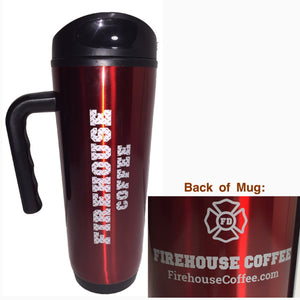 18oz Firehouse Coffee Travel Mug