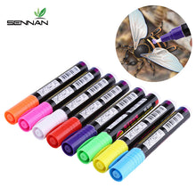 Load image into Gallery viewer, 1 Pcs Queen Bee Marking Marker Pen Set 8 Color Beekeeping And Bees Tools Queen Bee Mark Plastic Marks Pen Bee Tools