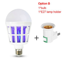 Load image into Gallery viewer, 220V E27 UV LED Bulb 15W Mosquito Killer Lamp 2 In 1 Mosquito Trap Insect Killer Light Bulb Fly Bug Zapper Night Light For Baby