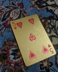 ConjuredCards Auction - 5 of Hearts