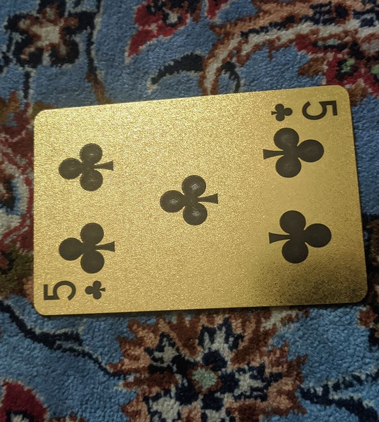ConjuredCards Auction - 5 of Clubs