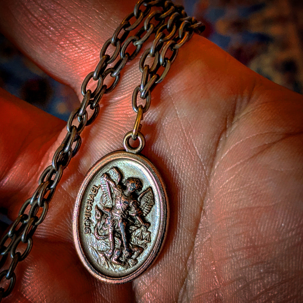 Blessed & Dressed Saint Michael Medal with Prayer Cards
