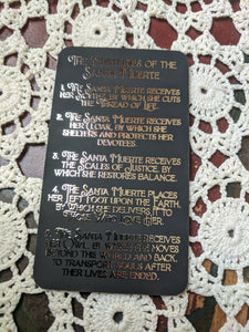 Santa Muerte Foil Devotional Cards