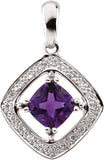 Ornate Genuine Gemstone Amethyst Pendant for SALE at BitCoin Gems