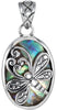Charming Genuine Gemstone Abalone Pendant for SALE at BitCoin Gems