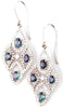 Bohemian Chic Genuine Gemstone Alexandrite Earrings at BitCoin Gems