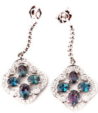 Fun Genuine Gemstone Alexandrite Earrings at BitCoin Gems