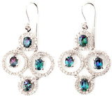 Magnificent Genuine Gemstone Alexandrite Earrings at BitCoin Gems