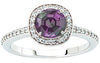 Trendy Alexandrite Genuine Gemstone Ring at BitCoin Gems
