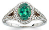 Eye Catching Alexandrite Genuine Gemstone Ring at BitCoin Gems