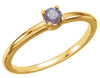 Beautiful Chatham Created Alexandrite Gemstone Ring at BitCoin Gems