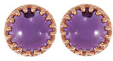 Trendy Genuine Gemstone Amethyst Earrings at BitCoin Gems