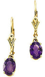 Stunning Genuine Gemstone Amethyst Earrings at BitCoin Gems