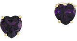 Rich Genuine Gemstone Amethyst Earrings at BitCoin Gems