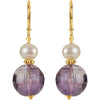 Chic Genuine Gemstone Multi Earrings at BitCoin Gems