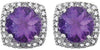 Stylish Genuine Gemstone Amethyst Earrings at BitCoin Gems