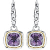 Beautiful Genuine Gemstone Amethyst Earrings at BitCoin Gems