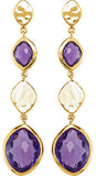 Fun Genuine Gemstone Amethyst Earrings at BitCoin Gems