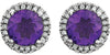 Pretty Genuine Gemstone Amethyst Earrings at BitCoin Gems