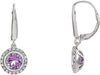 Incredible Genuine Gemstone Amethyst Earrings at BitCoin Gems