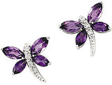 Gorgeous Genuine Gemstone Amethyst Earrings at BitCoin Gems