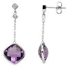 Expressive Genuine Gemstone Amethyst Earrings at BitCoin Gems