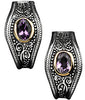 Fetching Genuine Gemstone Amethyst Earrings at BitCoin Gems