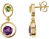 Modern Genuine Gemstone Amethyst Earrings at BitCoin Gems