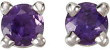 Exquisite Genuine Gemstone Amethyst Earrings at BitCoin Gems