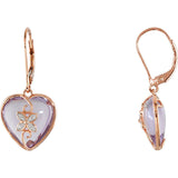 Romantic Genuine Gemstone Amethyst Earrings at BitCoin Gems