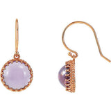 Eye Catching Genuine Gemstone Amethyst Earrings at BitCoin Gems