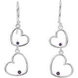 Darling Genuine Gemstone Amethyst Earrings at BitCoin Gems