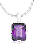 Majestic Genuine Gemstone Amethyst Pendant for SALE at BitCoin Gems