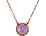 Dainty Genuine Gemstone Amethyst Pendant for SALE at BitCoin Gems