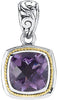 Exquisite Genuine Gemstone Amethyst Pendant for SALE at BitCoin Gems