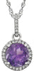 Bold Genuine Gemstone Amethyst Pendant for SALE at BitCoin Gems