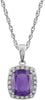 Enchanting Genuine Gemstone Amethyst Pendant for SALE at BitCoin Gems